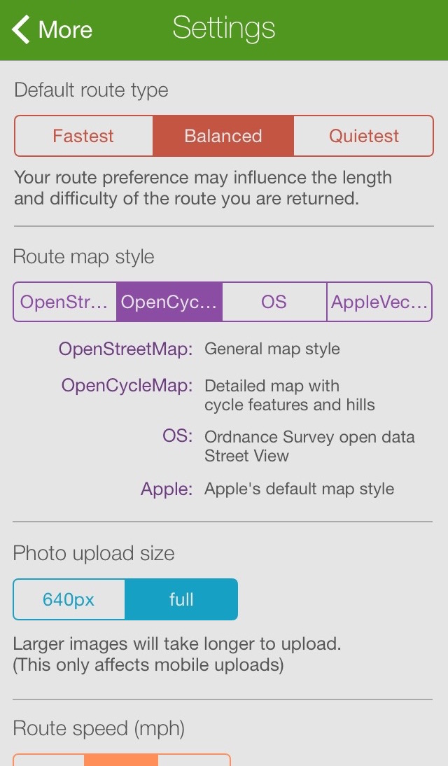 CycleStreets » iPhone - cycle journey planner