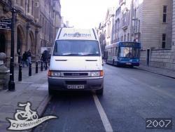 Van in cycle lane