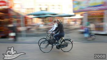 Girls cycling
