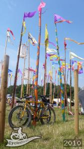 Bikes at Glastonbury