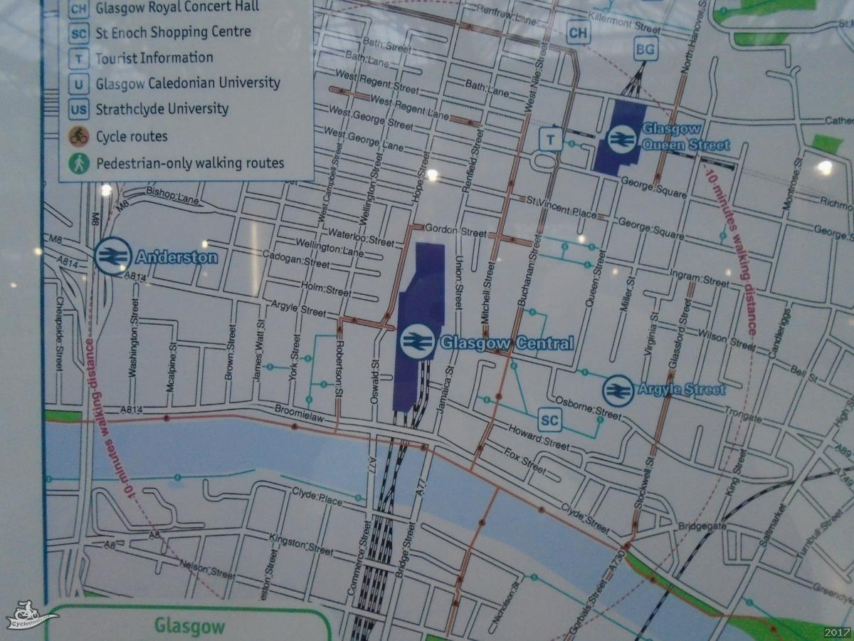 CycleStreets » Map in Central Station, with cycle routes, but ...